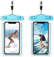 Водонепроникний чохол для смартфона Aqualight світиться синій