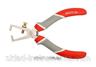 Кусачки YATO для зачистки проводів нікельовані l=160 мм