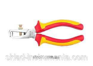 Кусачки YATO для знімання ізоляції провідників електромонтажні з ізоляцією 1000 V l=160 мм