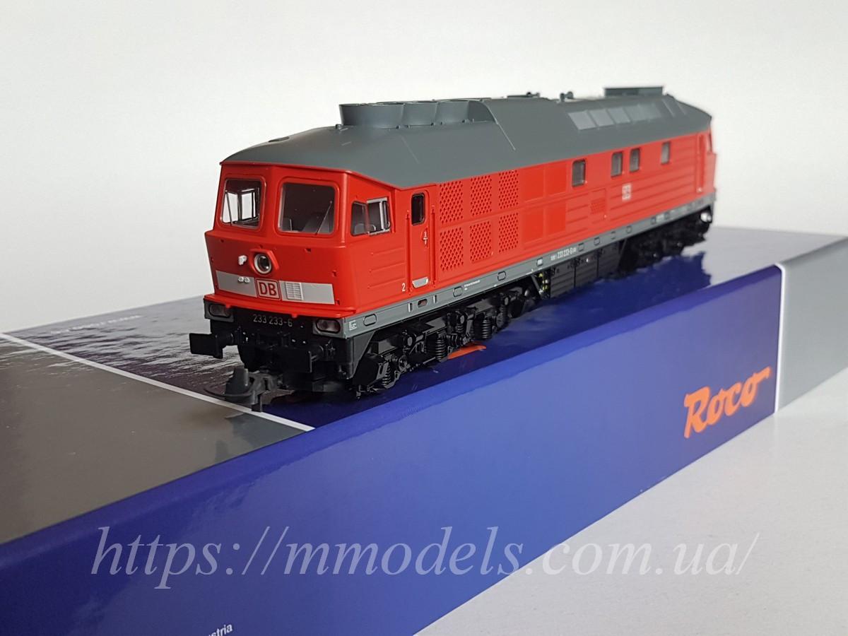 Roco 52497 Модель тепловоза серії 233 зі звуком ! приналежності DB AG масштабу H0 1:87