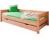 Односпальная кровать B020 90x200 с ящиком деревянная из бука ТМ Mobler, фото 1
