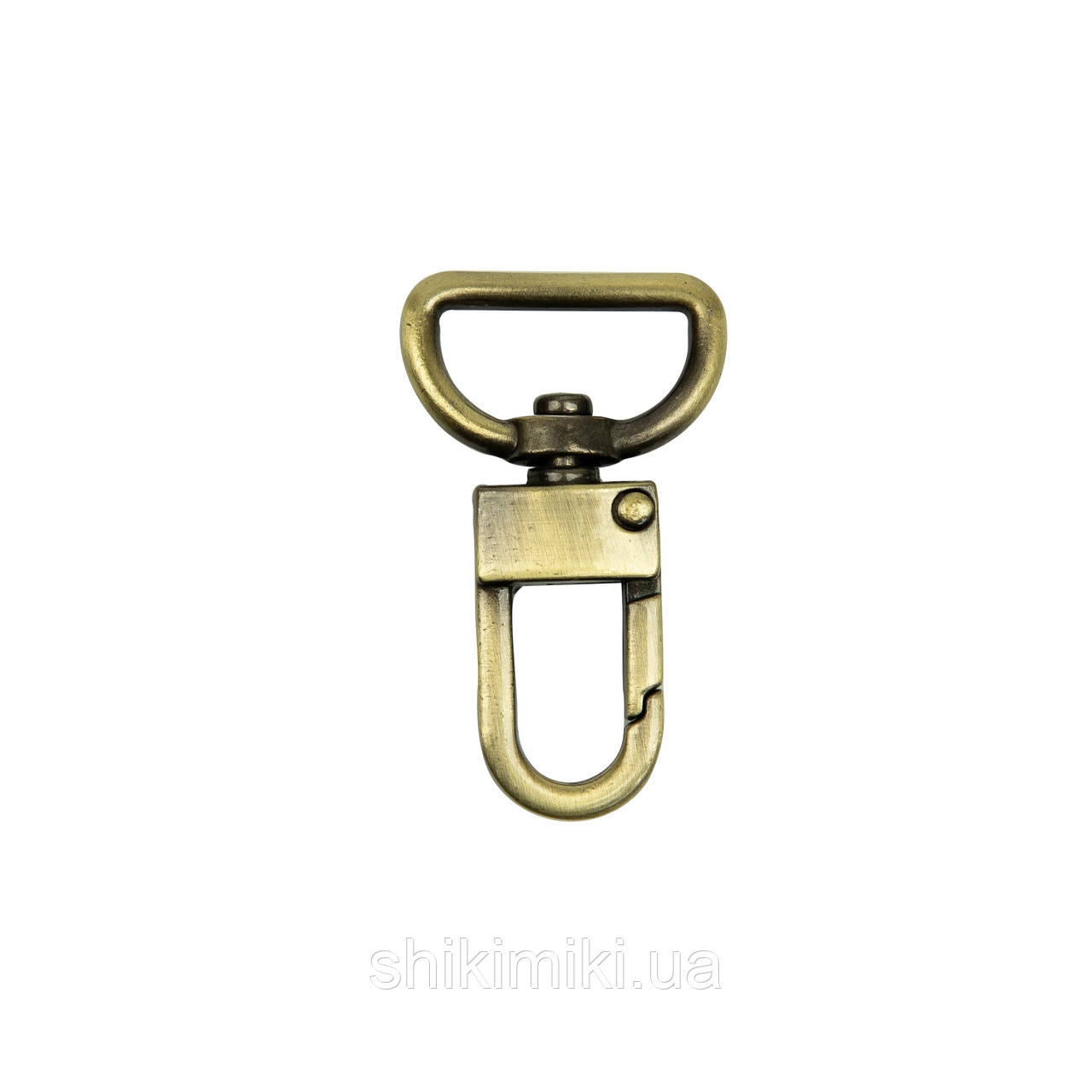 Карабін для сумок, голки 20 мм, довжина 43 мм, колір антик, (KR51-4)