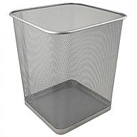"Корзина для паперу ""Axent"" металева срібляста №2124-03"