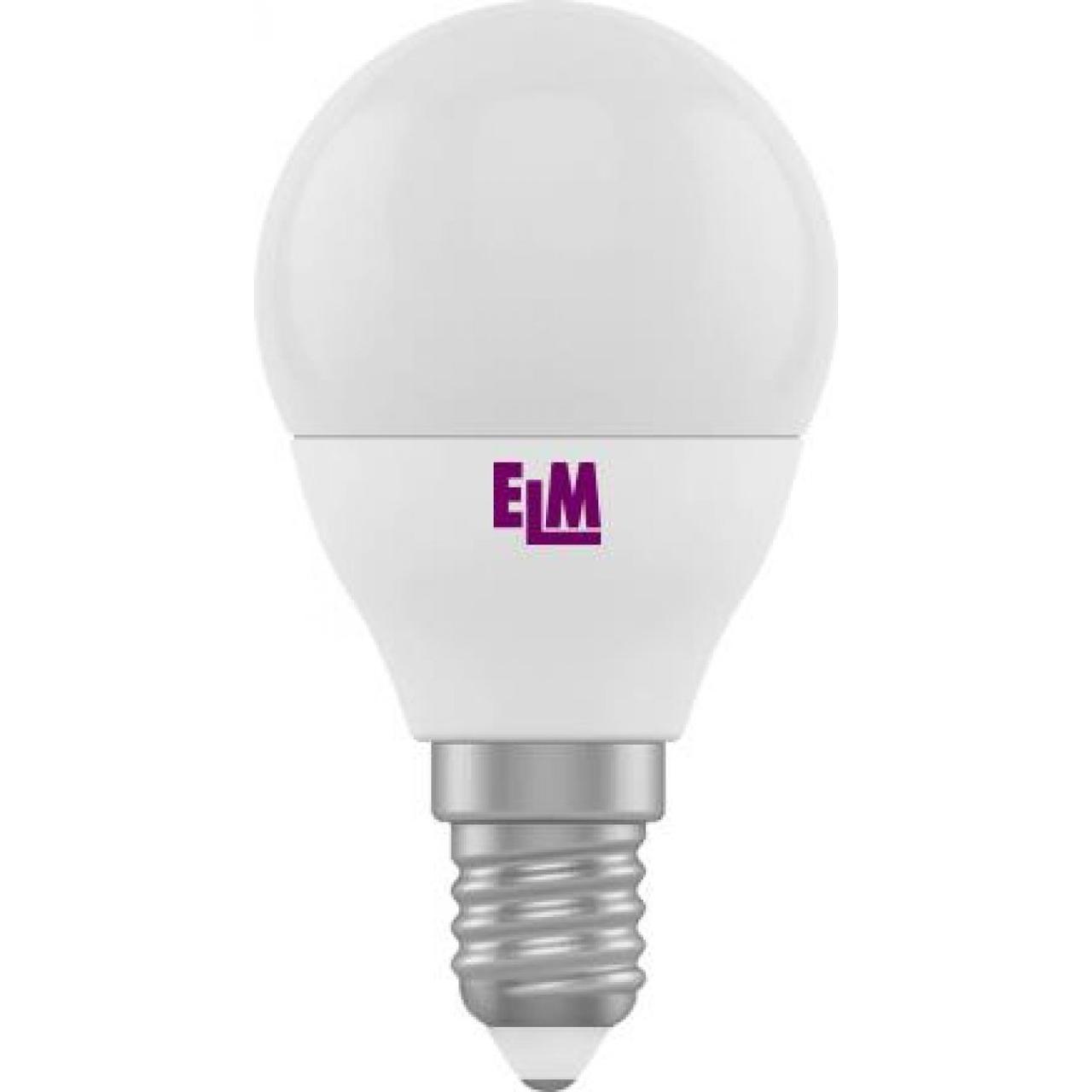 """Лампа """"ELM"""" LED сфера 18-0082 4Вт PA10L 3000K D45 E14(100)"""