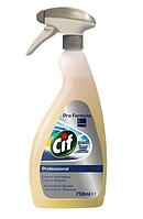 Средство для удаления следов скотча клея сильных пятен и загрязнений поверхностей Cif Professional 750 мл.
