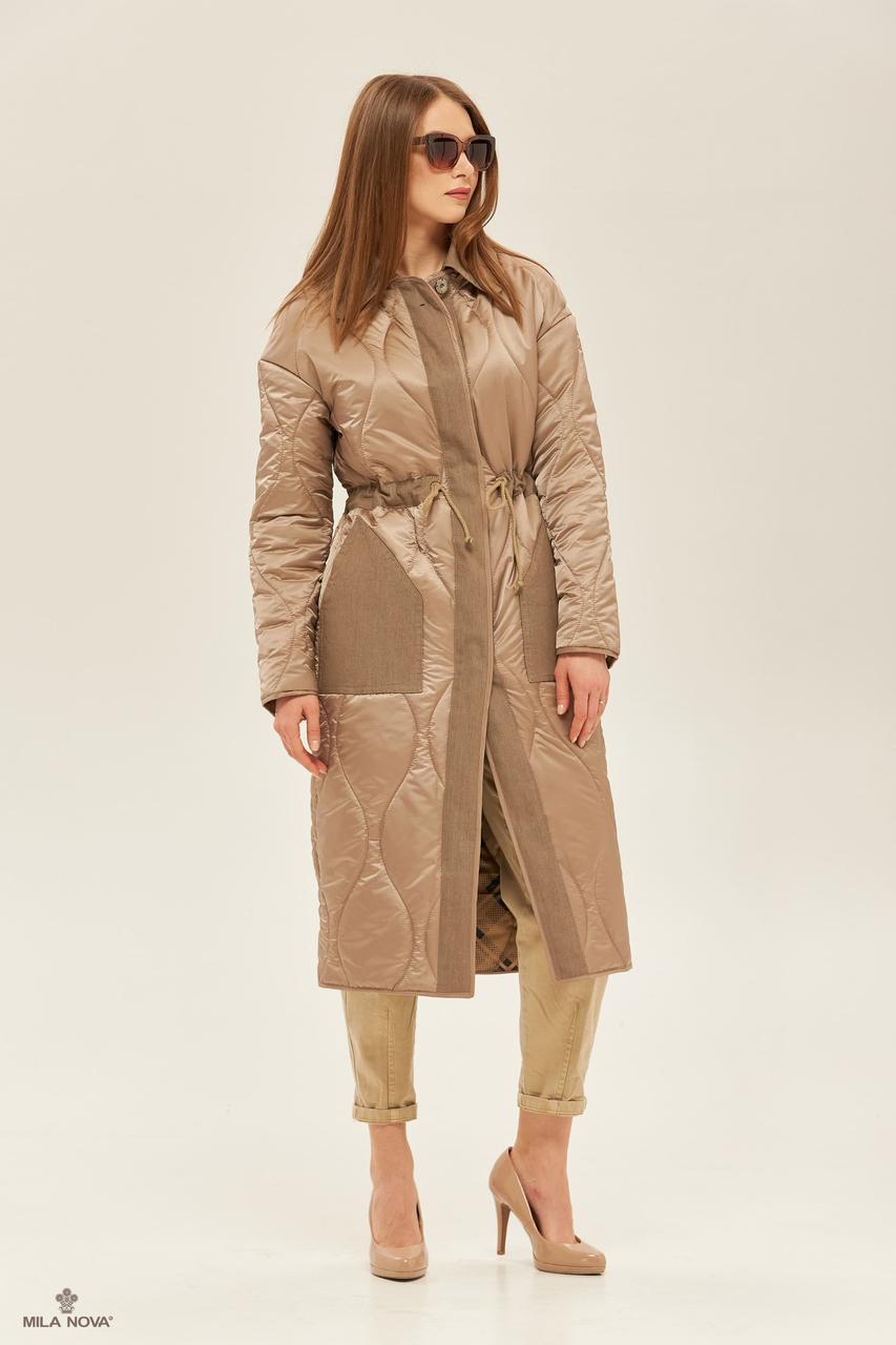 Пальто демісезонний плащ жіночий стильний двосторонній розміри:42-50
