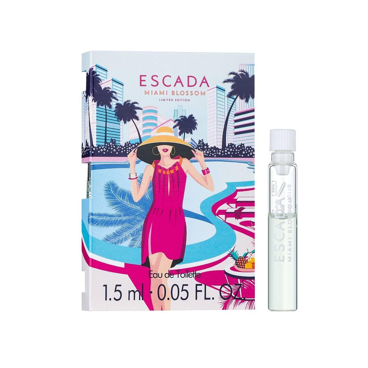 Летний цветочно-фруктовый аромат для женщин ESCADA Miami Blossom ПРОБНИК 1,5 мл туалетная вода