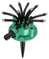 Спринклерний зрошувач Water Sprinklers 12 в 1 Fresh Garden розпилювач для газону