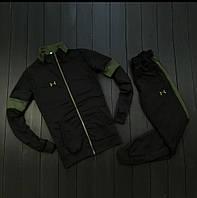 Спортивный костюм under armour черно-зеленый