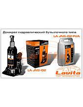 Домкрат гидравлический   2т бут.типа (пластик упак) (LA JNS-02PVC)  (LAVITA)