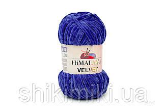 Плюшевая пряжа Нimalaya Velvet, колір Електрик