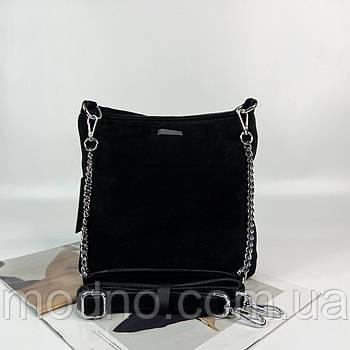 Женская замшевая сумка на и через плечо Farfalla Rosso