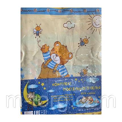 """""""ведмедики"""" дитячий комплект постільної білизни в ліжечко Tirotex Тирасполь, фото 2"""