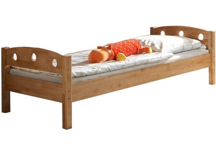 Односпальне ліжко B08-1 80x190 дерев'яні з бука ТМ Mobler