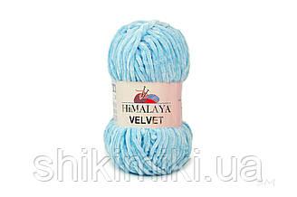 Плюшевая пряжа Нimalaya Velvet, колір Блакитний