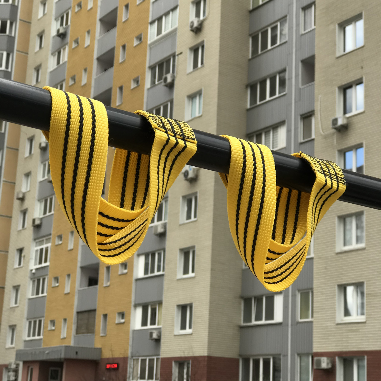 Лямки для турника мягкие, жёлтые
