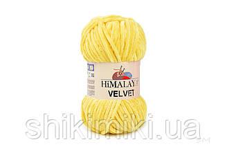 Плюшевая пряжа Нimalaya Velvet, колір Жовтий