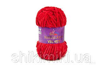 Плюшевая пряжа Нimalaya Velvet, колір Червоний