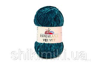 Плюшевая пряжа Нimalaya Velvet, колір Темно-бірюзовий