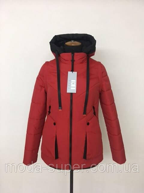 Весенняя куртка-жилет рр 42-52