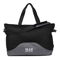 Стильная и современная женская спортивная сумка для фитнеса LATTICE серый от MAD | born to win™