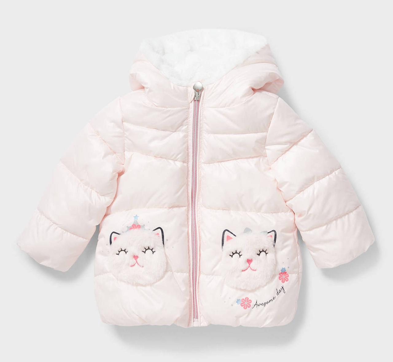 Дитяча рожева куртка на дівчинку 2-3 роки C&A Німеччина Розмір 98