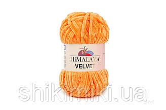 Плюшевая пряжа Нimalaya Velvet, цвет Оранжевый