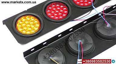 LED стопи причіп 24V на вантажівку тягач задній ліхтар стоп, фото 2