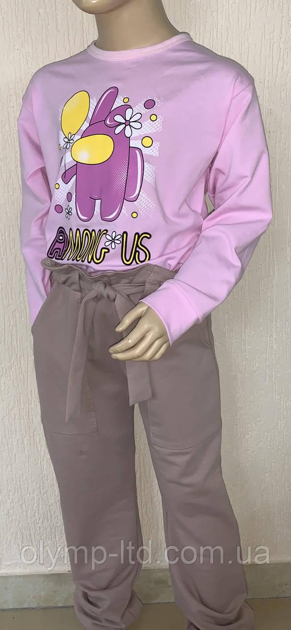 Джемпер для девочки подростка 36-4 2р-р стрейч кулир шелкография.