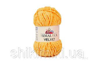 Плюшевая пряжа Нimalaya Velvet, цвет Апельсиновый