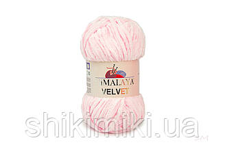 Плюшевая пряжа Нimalaya Velvet, колір Ніжно-рожевий