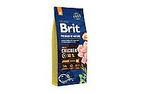 Сухой корм Brit Premium Junior M для щенков средних пород 15 КГ