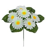 Искусственные цветы букет Ромашка белая бордюр , 20 см, фото 1