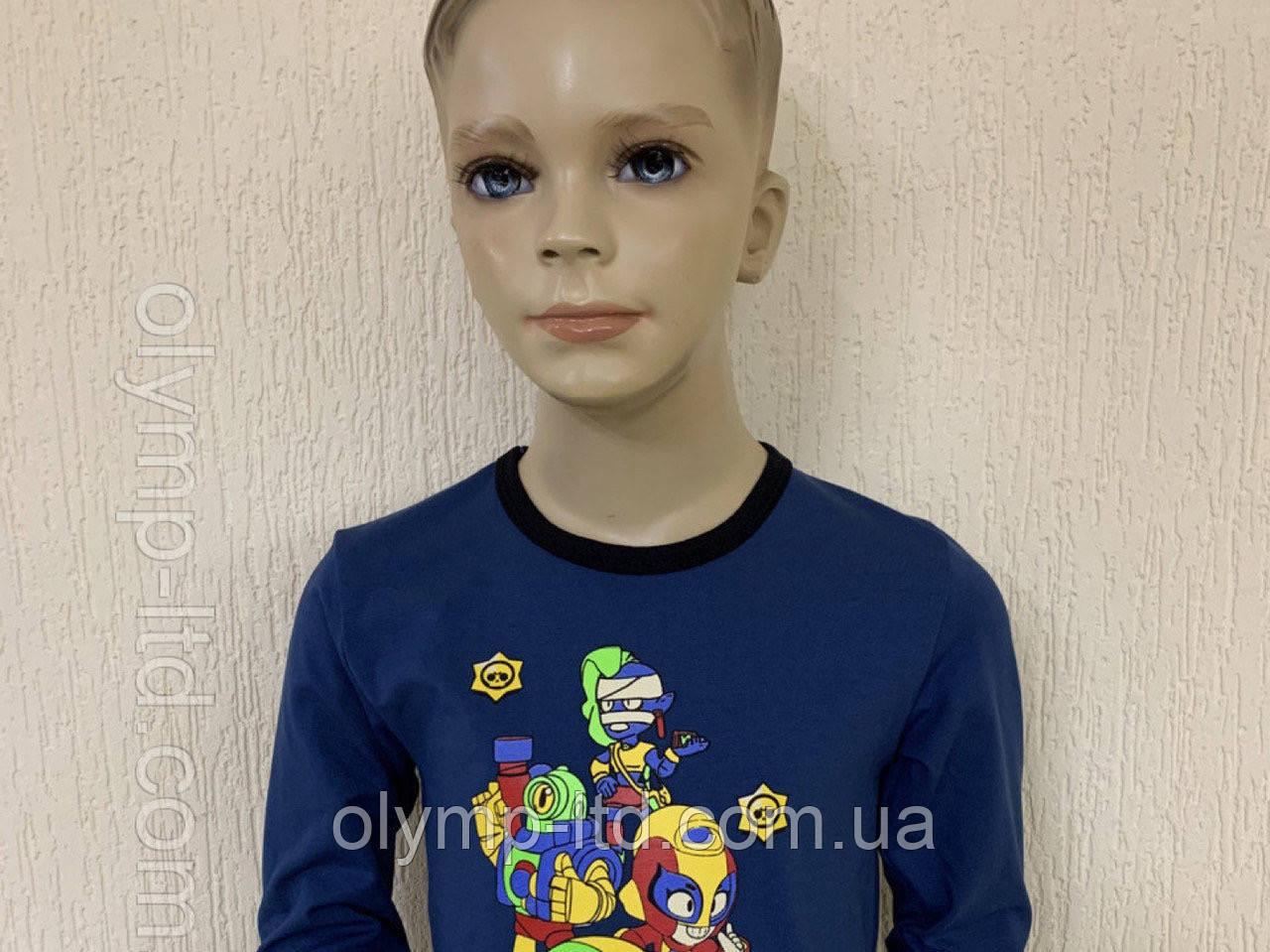 Джемпер детский для мальчика 28-34р-р стрейч кулир шелкография.