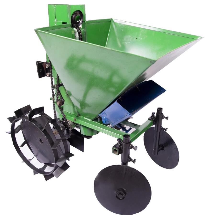 Картофелесажалка мотоблочная с бункером для удобрений Кентавр