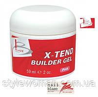 Гель Blaze X-Tend Builder Clear Pink Gel, 59 мл