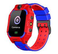 Детские умные смарт часы Камера GPS Baby Smart Watch Fz6 красные