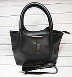 Женская стильная сумка из кожзаменителя, цвет черный, фото 2