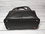 Женская стильная сумка из кожзаменителя, цвет черный, фото 6