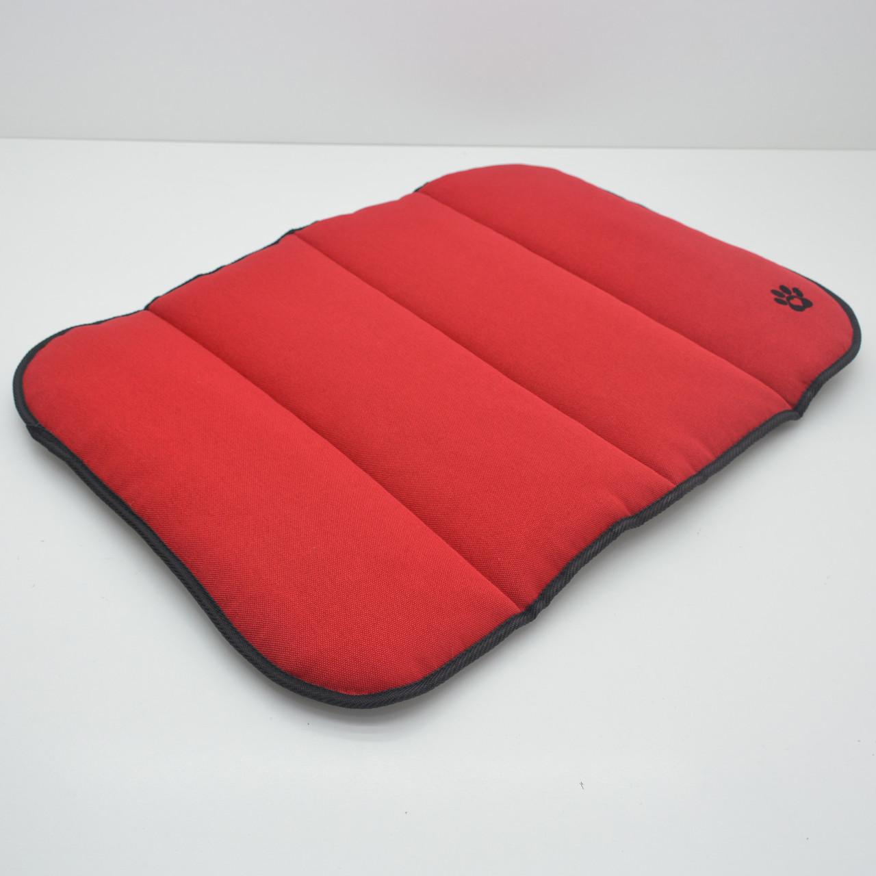 Матрас коврик для собак и котов Loft №1 40х50 см красный + серый