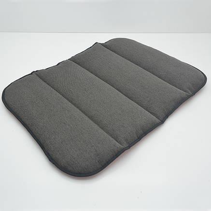 Матрас коврик для собак и котов Loft №1 40х50 см красный + серый, фото 2