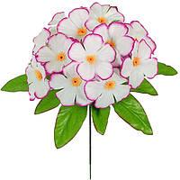 Штучні квіти букет Фіалка кольорова бордюр , 23 см, фото 1