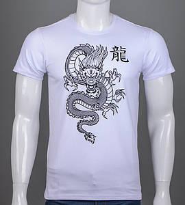 Футболка мужская Китайский Дракон (2113м), Белый