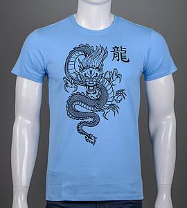 Футболка мужская Китайский Дракон (2113м), Голубой