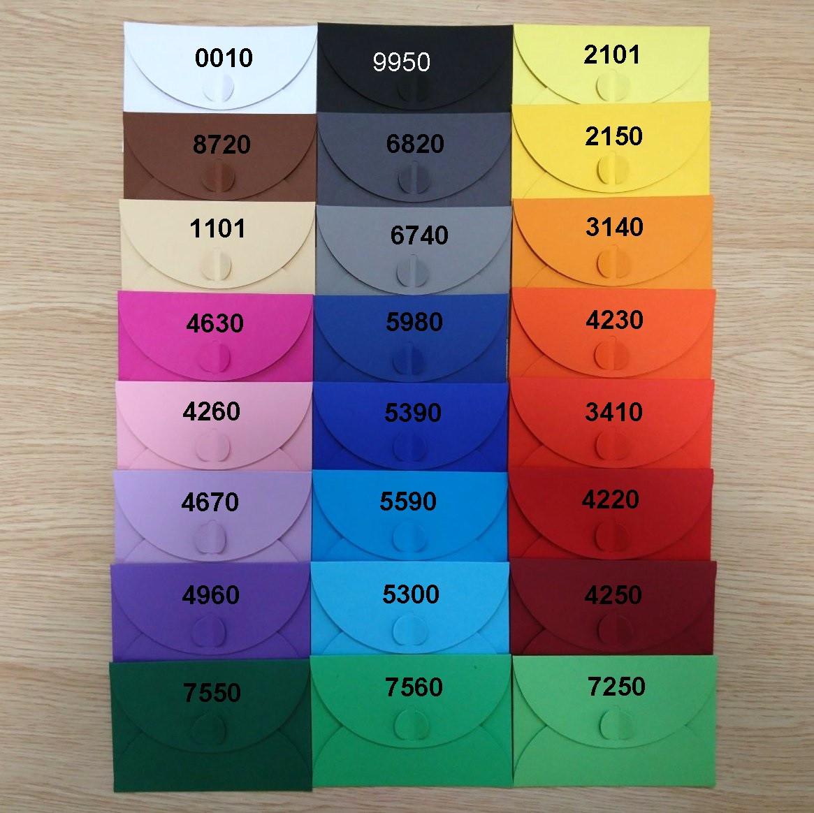Подарунковий конверт-коробочка 110х155х10 мм з кольорового дизайнерського картону