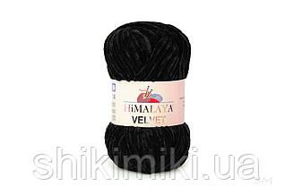Плюшевая пряжа Нimalaya Velvet, цвет Черный