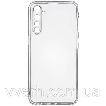 TPU чехол GETMAN Transparent 1,0 mm для Realme XT