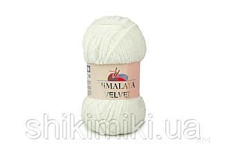 Плюшевая пряжа Нimalaya Velvet, колір Білий