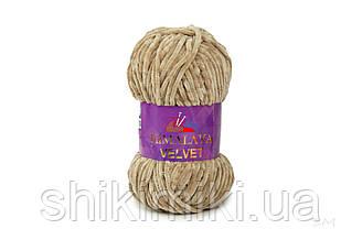 Плюшевая пряжа Нimalaya Velvet, колір Карамель