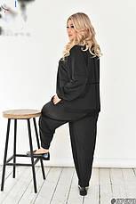 Костюм брючний жіночий трикотажний оверсайз розмір-52-56, фото 2